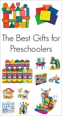 The best gifts for preschoolers broken down by their interests - science, math, pretend play, literacy, arts and crafts, and building