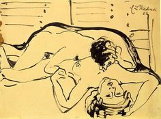 Ernst Ludwig Kirchner, Lovers on ArtStack #ernst-ludwig-kirchner #art