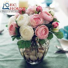 Té tallada pequeño y elegante estilo Japonés traje flotante simulación habitación decoración Floral flores de rose ENVÍO GRATIS(China (Mainland))