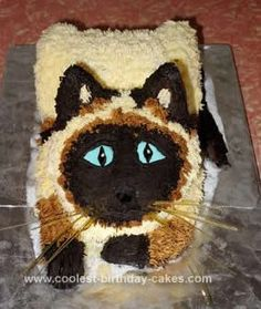 Coolest Siamese Cat Birthday Cake