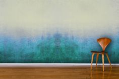 Deep blues mingle with green tones, which gently fade into the more neutral colours above to create a truly wonderful scene in your own home. Embrace the latest craze with our Blue Grunge Ombre Wall Mural. Fachada Colonial, Ombre Paint, Ombre Walls, Wallpaper Wall, Ombre Wallpapers, Deco Restaurant, Interior Decorating, Interior Design, Paint Effects