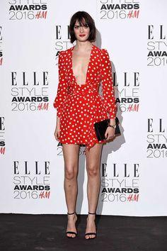 Sam Rollinson in Saint Laurent. #ELLEStyleAwards #ELLE #fashion #SaintLaurent #style #SamRollinson #redcarpet #womensstyle
