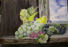 Items similar to Antique Reproduction painting still life grapes on a window on Etsy Original Paintings For Sale, Original Artwork, Grape Painting, Painting Still Life, Canvas Paper, Mural Painting, Studio, Antiques, Christmas