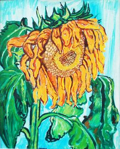 Bratby, John Randall 1928-1992 British AR, Sunflower. Bratby, John Randall 1928-1992 British AR, Sunflower. 30 x 24 ins., (76 x 51 cms.), Oil on Canvas, Signed.