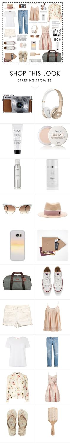 """""""Ready, Set, Go..."""" by lizzi-walton ❤ liked on Polyvore featuring philosophy, Fresh, Ouai, Oscar de la Renta, Gucci, Maison Michel, Casetify, STOW, Ted Baker and Converse"""