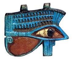 Faience wedjat eye (EA 26300) British Museum