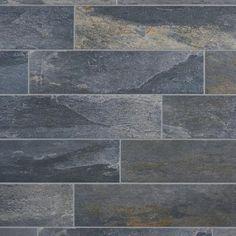 Meridian Slate Gray Porcelain Tile - 6in. x 24in. - 100190156   Floor and Decor