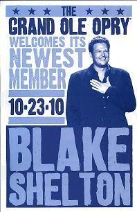 Blake Shelton Opry Member Induction Hatch Show Print