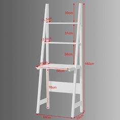 SoBuy White Wooden Storage Display Shelving Ladder Shelf with Desk and 2 Shelves, Folding Furniture, Wood Pallet Furniture, Home Furniture, Display Shelves, Wall Shelves, Shelving, Small Room Decor, Small Room Design, Kids Study Spaces