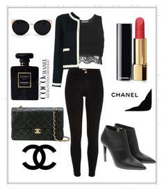"""""""Chanel"""" by salmamakarian on Polyvore featuring moda, Alberta Ferretti, Chanel, River Island, Jimmy Choo y Una-Home"""