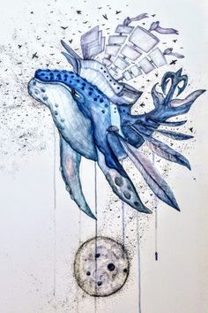 Whale. Whale, Paintings, Art, Art Background, Whales, Paint, Painting Art, Kunst, Performing Arts