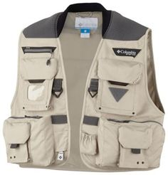Updated this season in a new, super-lightweight honeycomb fabric, this performance fishing vest features our cushioned Columbia Comfort System™ yoke at the back shoulders to evenly distribute weight and 12 finely tuned pockets to hold all your gear. #PFG #fishingvest