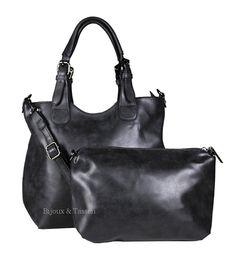 """Eternel handtas """"Bag in bag"""" zwart"""