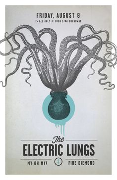 GigPosters.com - Electric Lungs, The - My Oh My! - Fire Diemond