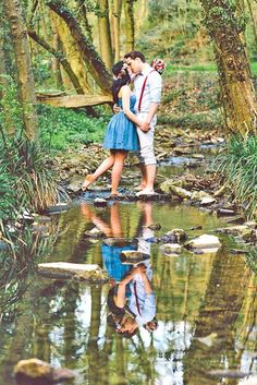 engagement shoot in forest 5