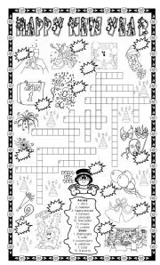 english worksheet new year puzzle number the pictures