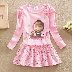 Vestido Menina Rosa Masha e urso - Baby Boller - Roupas, Acessórios e Brinquedos para Bebês e Crianças
