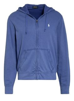 POLO RALPH LAUREN sweat jacket, color BLUE (picture 1) Polo Ralph Lauren, Blue Pictures, Spring Outfits, Hooded Jacket, Stitching, Athletic, Logo, Jackets, Color Blue