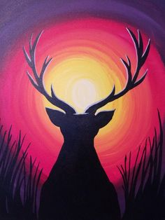 Animal paintings on canvas painting canvas crafts easy canvas art simple canvas paintings easy paintings abstract Painting Canvas Crafts, Simple Canvas Paintings, Easy Canvas Art, Oil Pastel Paintings, Pastel Art, Animal Paintings, Diy Painting, Deer Paintings, Painting Classes