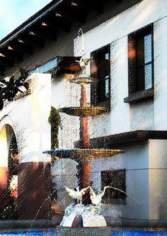 Historic Orange California City Library Fountain