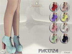 The Sims Resource: Madlen Piacenza Boots by MJ95 • Sims 4 Downloads