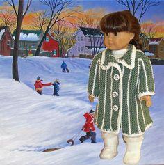 (6) Name: 'Knitting : Carol's Coat doll knitting pattern