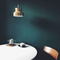 emerald and gold | dark days ahead. Accent wall in dining and living room?