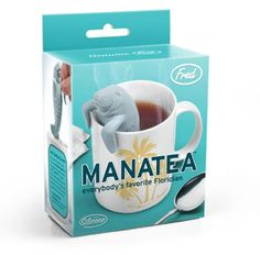 Manatea Tea Infuser by Frend & Friends Manatees are known for their curious nature, so it's no wonder that the Manatea tea infuser is hanging over the side of your favorite tea mug. Constructed from s