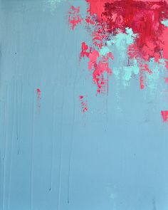 Cherry Flowers Original Abstract Painting Modern by Natureandart, $245.00