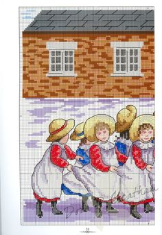 """""""Play Time With Teacher"""" Cross Stitch Patten Color chart listed on page Cross Stitch Gallery, 123 Cross Stitch, Cross Stitch Numbers, Cross Stitch For Kids, Cross Stitch Pictures, Cross Stitch Charts, Cross Stitch Designs, Cross Stitch Patterns, Stitch Cartoon"""