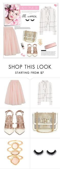"""Pink"" by fashion-lalo ❤ liked on Polyvore featuring Ted Baker, Tory Burch, Valentino, Christian Louboutin, Monsoon, Burberry, women's clothing, women, female and woman"