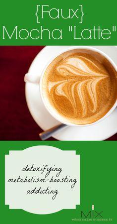 "Detoxifying & Metabolism-Boosting {Faux} Mocha ""Latte"" | www.mixwellness.com"