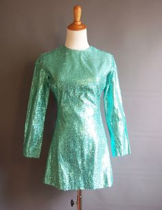 1960s metallic lurex tinsel minidress 60s 1960's 60's by edgertor