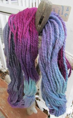 Your place to buy and sell all things handmade True Colors, All The Colors, 2 Ply, Hand Dyed Yarn, Teal Blue, Shades Of Green, Mauve, Plum, Handmade