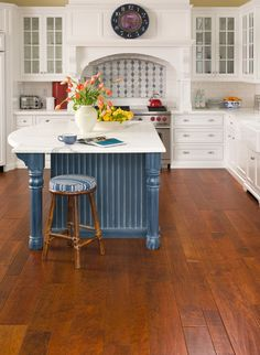 "Amalfi Coast Fontana, Cherry wood flooring by Bella Cera. Is available is different widths of 4"",6"" and 8"". It is also artisan dual hand stained and sculpted."