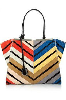 i want I want! - Fendi 3Jours medium printed watersnake tote | NET-A-PORTER