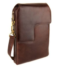 Leather Note Book Bag - Specifically designed as a shoulder bag for iPad, Android and Note Book that will add protection to your latest gizmo whilst helping you remain suitably stylish. It is available in buffalo leather with full grain affect. This cross body bag is a must have item. Lift the magnetic popper secured front flap to reveal two zip compartments. The first is fully padded for your notebook and the second have three credit card slots and two pen holders along with a zip pocket.