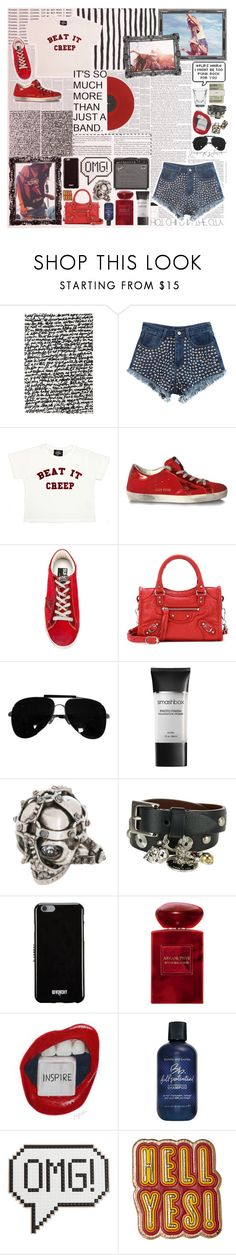 """""""20. Go to a Concert"""" by metalheavy ❤ liked on Polyvore featuring nanimarquina, Chicnova Fashion, Valfré, Golden Goose, Balenciaga, Valentino, Jack Spade, Smashbox, Alexander McQueen and Givenchy"""