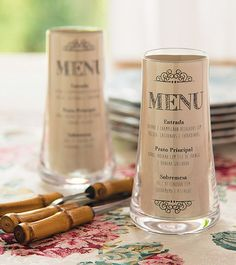 Yep - more menu card ideas... could work with flower vases OR #candlesbysocialsavi too! - love a versatile idea with more than one use... (must be female)