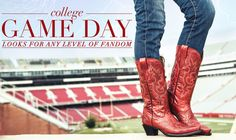 Check out our favorite outfits for college game day!