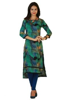 LadyIndia.com # Kurtas, Trendy Multicolor Designer Kurti For Women, Kurtis, Kurtas, Cotton Kurti, https://ladyindia.com/collections/ethnic-wear/products/trendy-multicolor-designer-kurti-for-women
