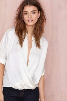 Wrap It Up Top - Cream | Shop Tops at Nasty Gal