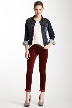 Denim Dash  Cult of Individuality Teaser Skinny Corduroy Pant