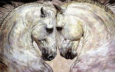 ANDALUSIAN HORSE DUET / ANDALUSISCHES PFERDE DUO   Jana Fox & Oleg Dyck [J&O Art Studio Cologne]   Oil  on canvas | Öl  auf Leinwand   2015
