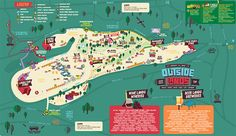 A map of the festival in Golden Gate Park