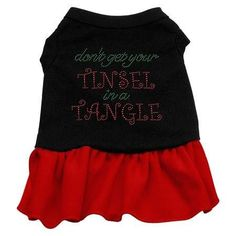 Tinsel in a Tangle Rhinestone Dress Black with Red XXL (18)