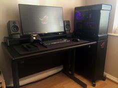 An update to my customized gaming space including a new rig/peripherals and display stand. Ultimate Gaming Setup, Best Gaming Setup, Gaming Room Setup, Pc Setup, Computer Desk Setup, Pc Desk, Pc Computer, Super Smash Bros Brawl, Dream Desk