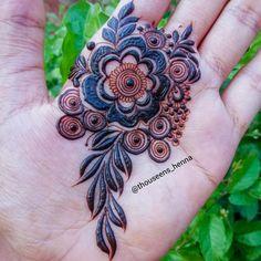 Pretty Henna Designs, Modern Henna Designs, Rose Mehndi Designs, Henna Tattoo Designs Simple, Basic Mehndi Designs, Henna Art Designs, Mehndi Designs For Beginners, Mehndi Designs For Girls, Wedding Mehndi Designs