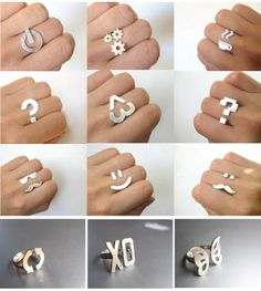 Creative Rings by Angela of Smiling Silver Smith. I like the coffee one :)