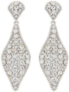 Drop Earring Made with Swarovski Crystal - Lyst